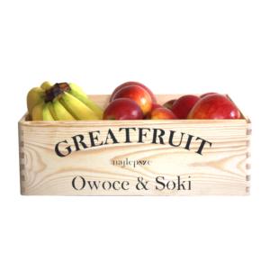 Skrzynka owoców GreatFruit banany/jabłka (4,5 kg)
