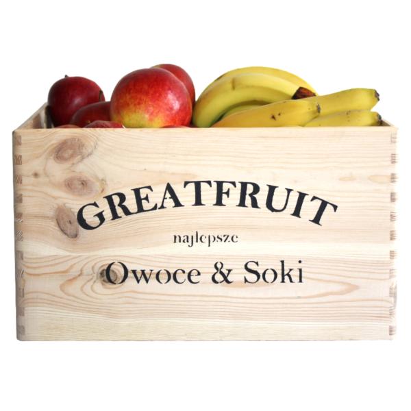 Skrzynka owoców GreatFruit banany/jabłka (9 kg)